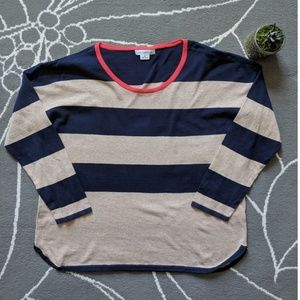 Liz Claiborne striped lightweight sweater size XL
